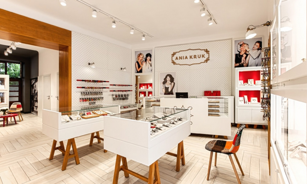 Ania Kruk jewellery Retail Shop, Warsaw – Poland