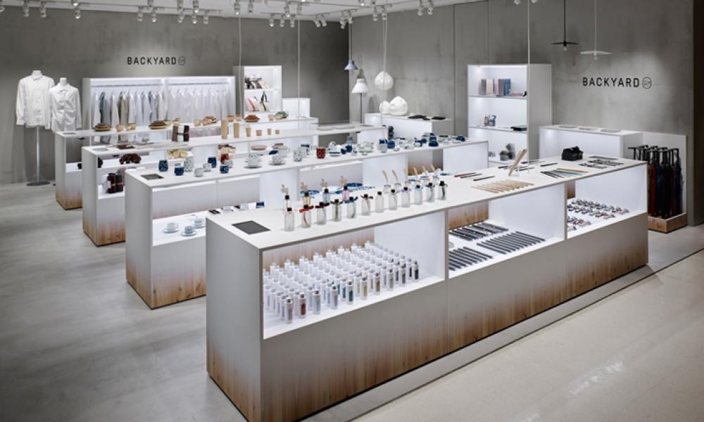 BACKYARD Porcelain Store Design Japan