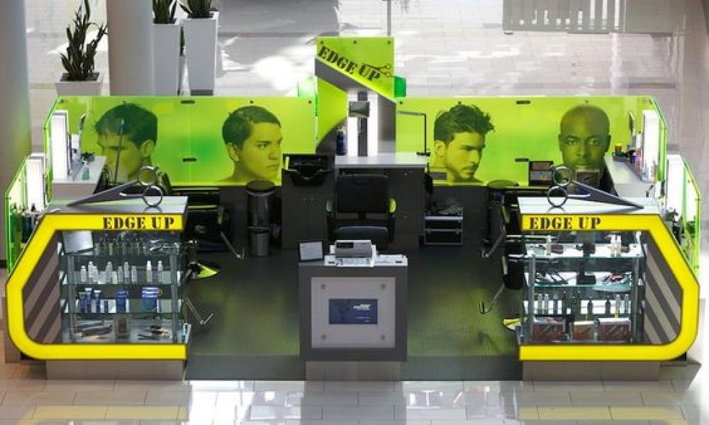 EDGE UP Haircut Kiosk Design