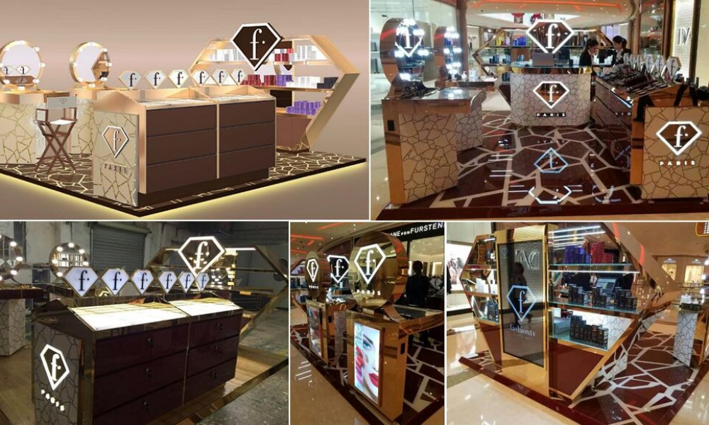 Corian Cosmetics Kiosk Work Collection | M2 Display