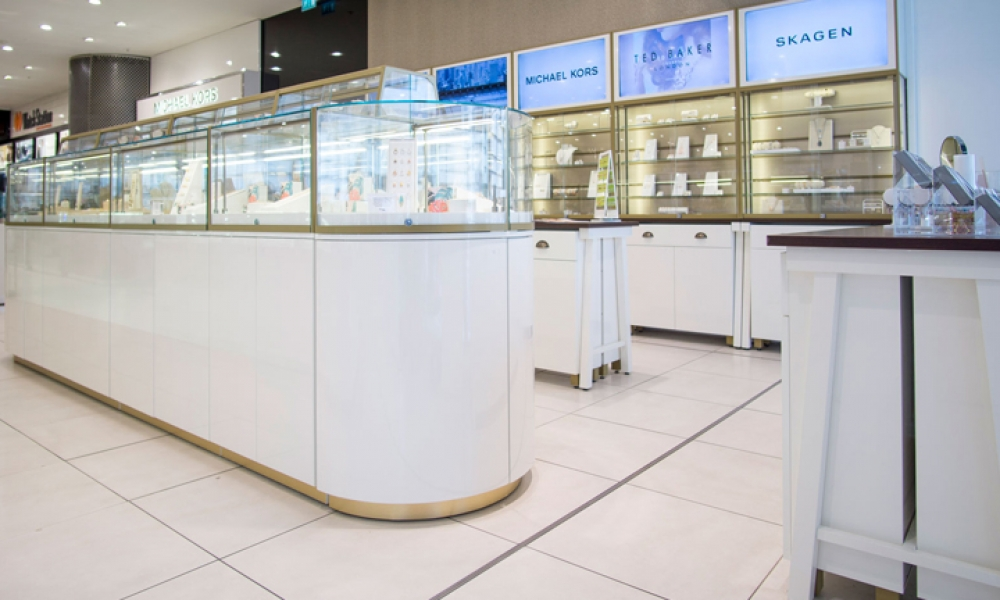 Fossil Jewellery store Interior Design, London