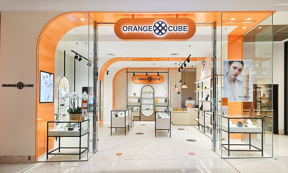 Jewelry store design - Orange Cube - Westfield Southland VIC