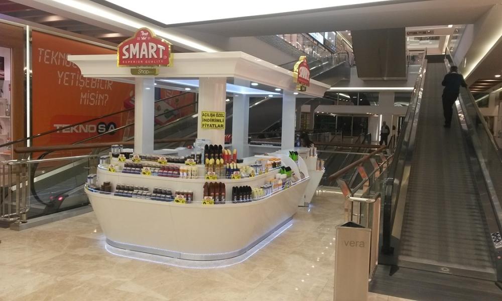 Smart Hair Beauty Products Mall Kiosk Design