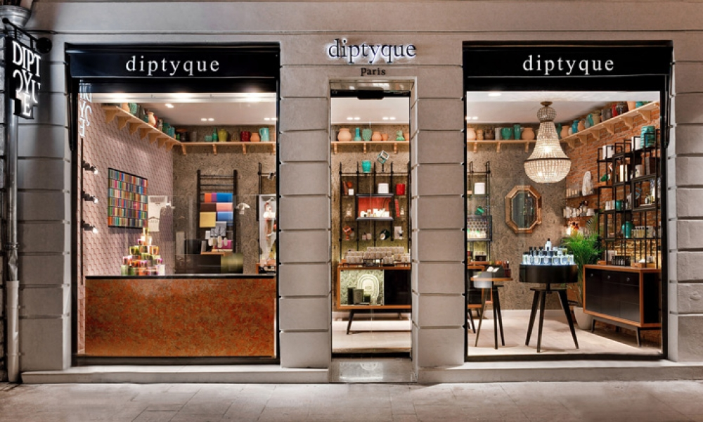 diptyque ville rose boutique perfume retail shop design, Toulouse – France