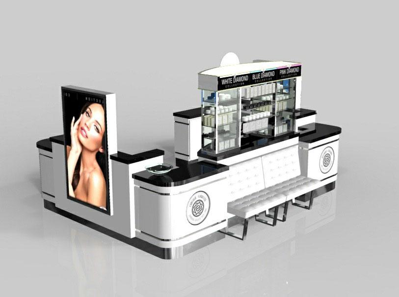 FOREVER FLAWLESS Beauty Mall Kiosk 10x12ft Design