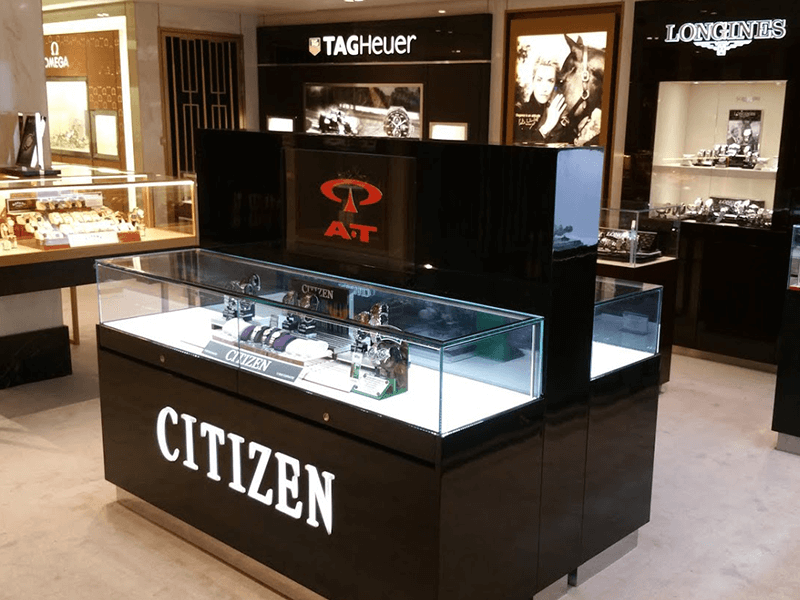CITIZEN Watch glass display counter