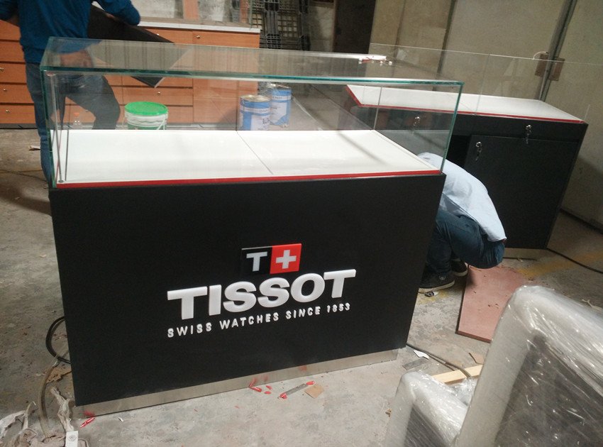 watch floor display units for Tissot retail shop