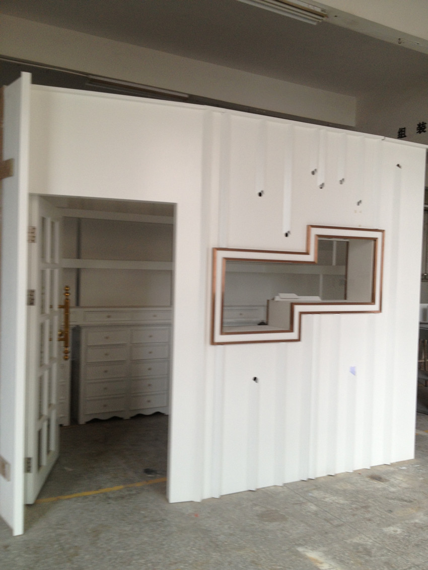 white paint jewelry kiosk house for shopping center