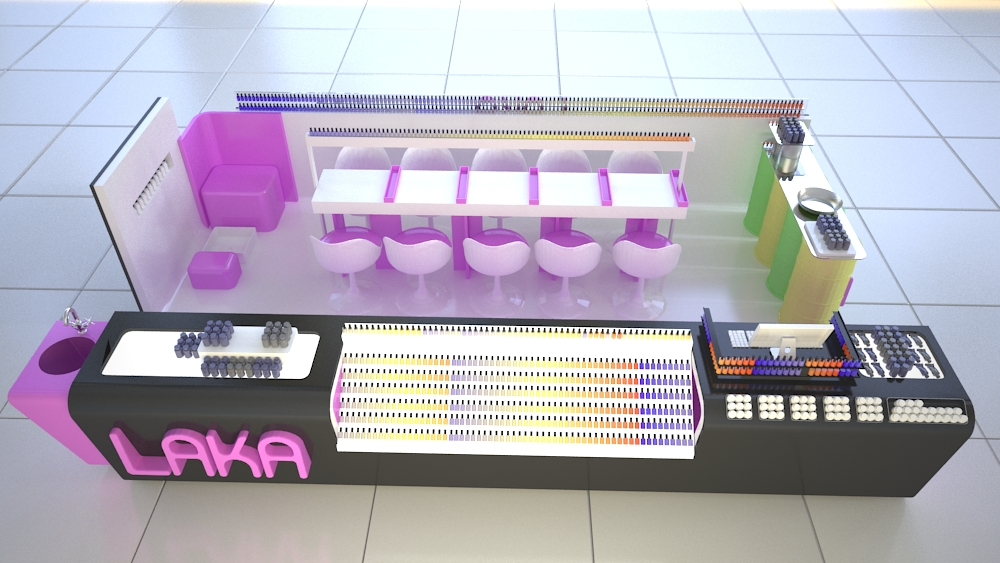 latest laka nail express kiosk design