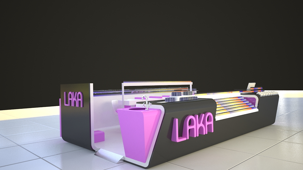 china supply latest laka nail express kiosk