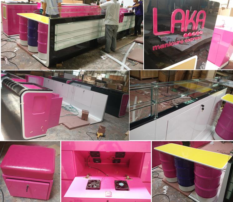 manufacture laka nail kiosk design