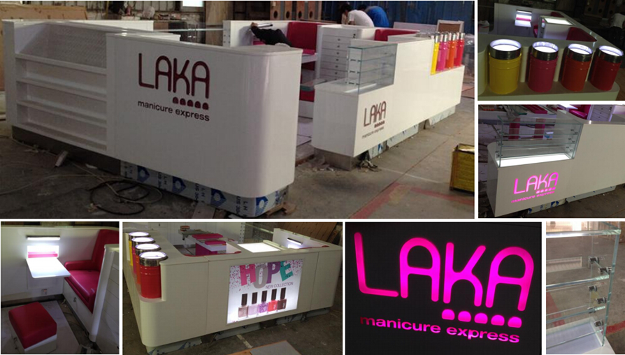 classical laka white kiosk for shopping center