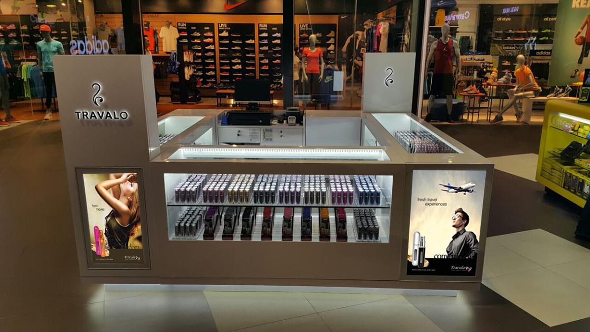TRAVALO Perfume Kiosk Design