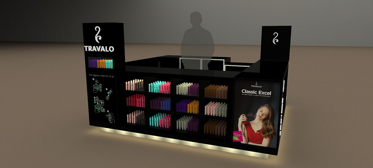 TRAVALO Perfume Kiosk 3D drawing