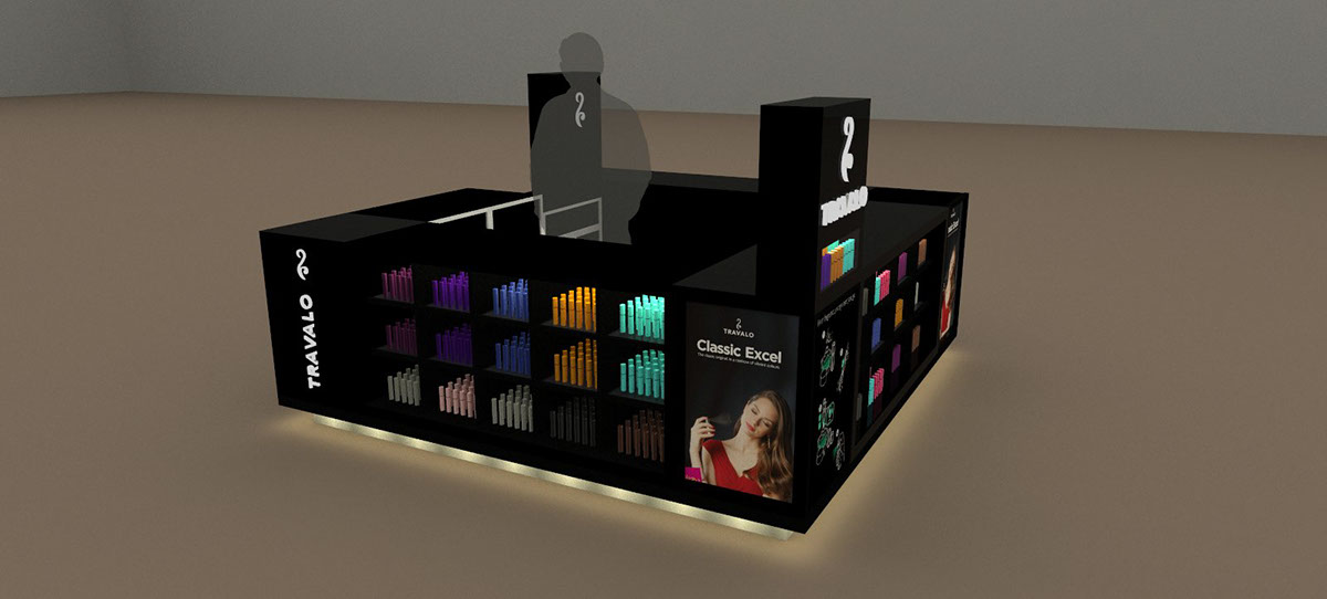 TRAVALO Perfume Kiosk for shopping mall