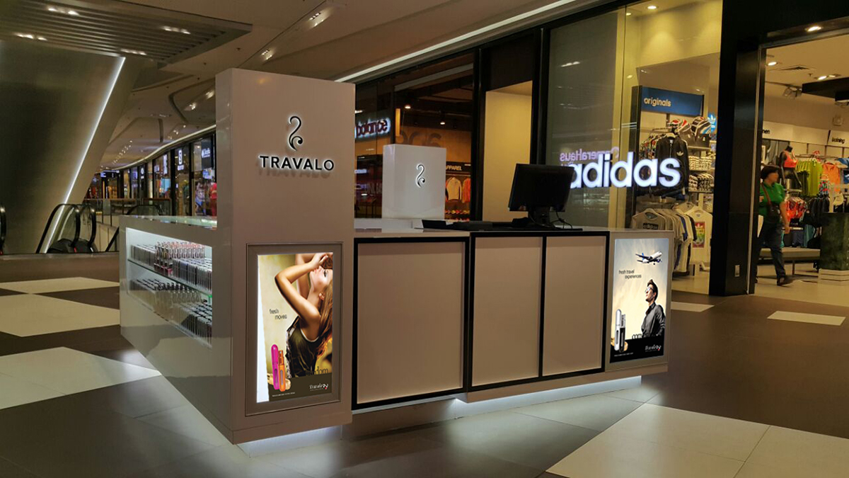 TRAVALO Perfume Kiosk for shopping center