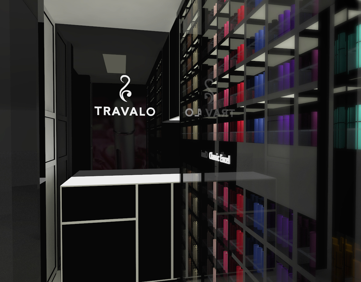 bespoke wood TRAVALO Perfume Retail Shop Design