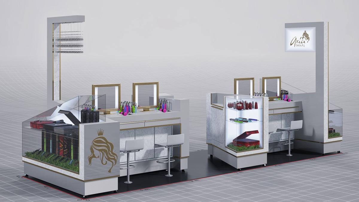 aria beauty hair mall kiosk