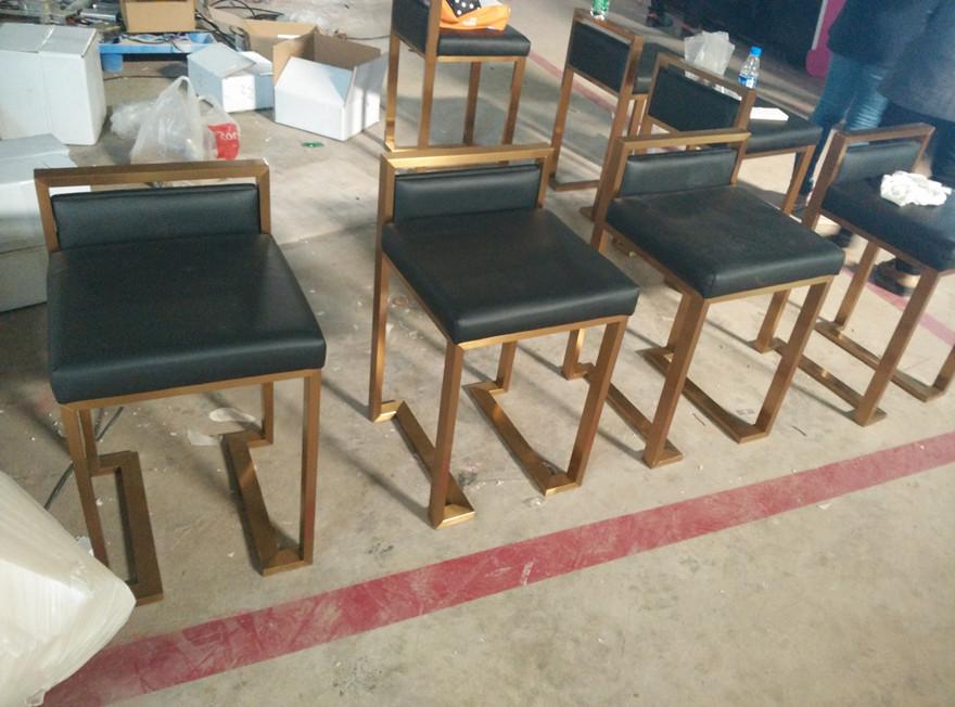 manufacture brash finish jewelry mall kiosk chair
