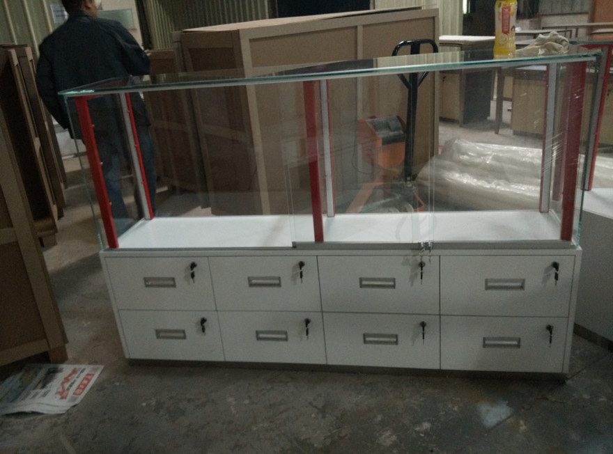 phone accessories Glass display cabinets with drawers