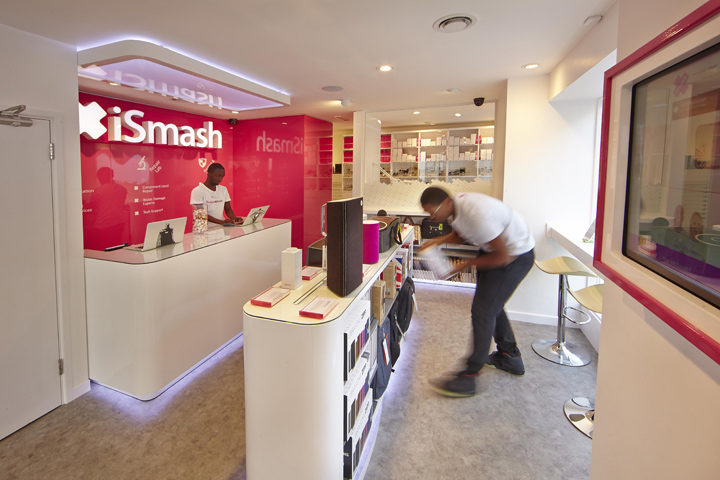 Gondola double side display units for ismash phone shop