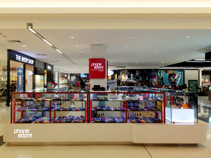 linear phone adore mall kiosk