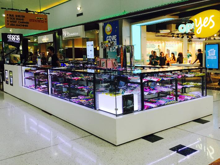 china supply black linear phone adore mall kiosk