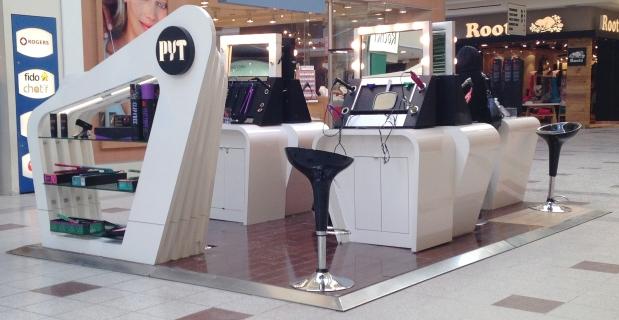 PYT hair Salon mall kiosk