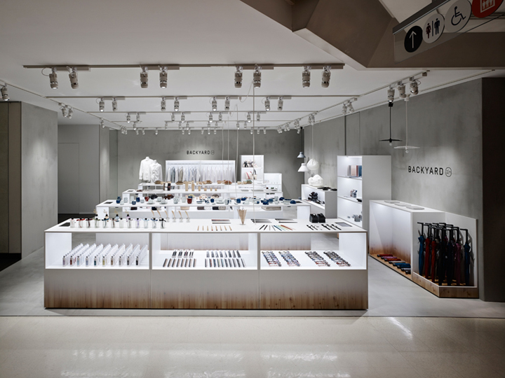 BACKYARD Porcelain Store Design Japan - m2display.com