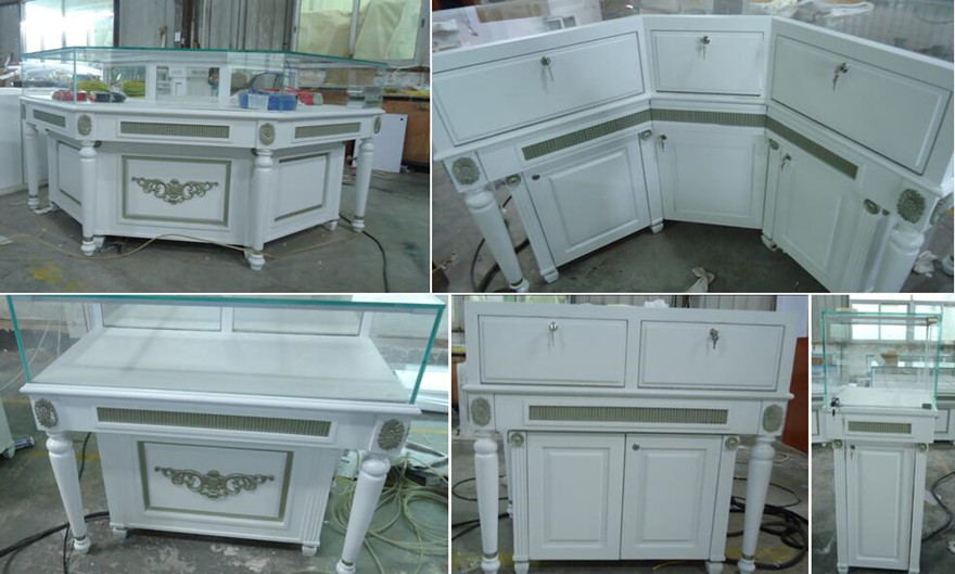 customized China manufacture Paint Jewelry Retail Shop display counter