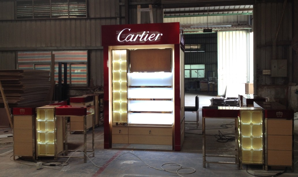 China Made Cartier Perfume mall display Kiosk