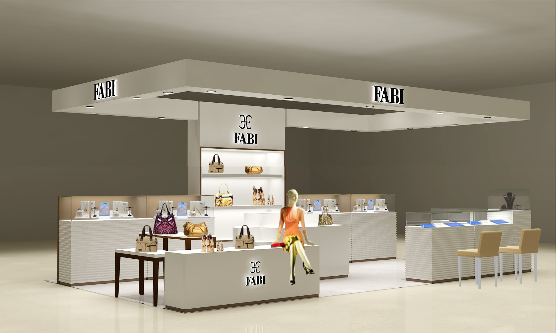 FABI Mall Kiosk is pure PU Painting work.