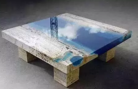 Epoxy Resin Made Crystal River Coffee Table M2display Com