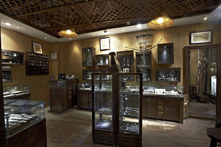 bespoke glass floor display cabinets for JINF Jewellery
