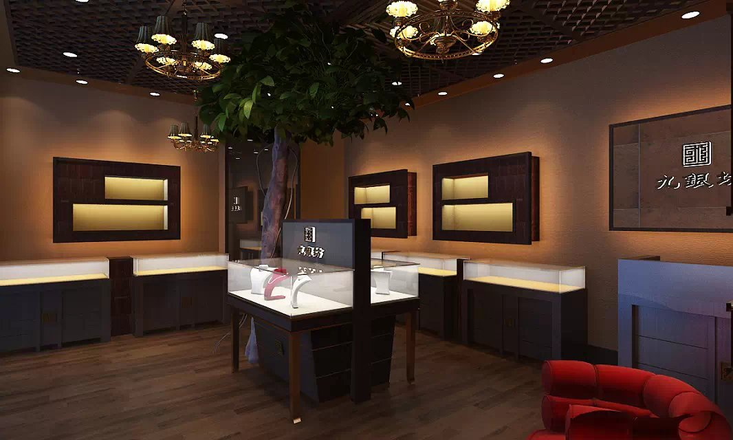 china jewelry shop design