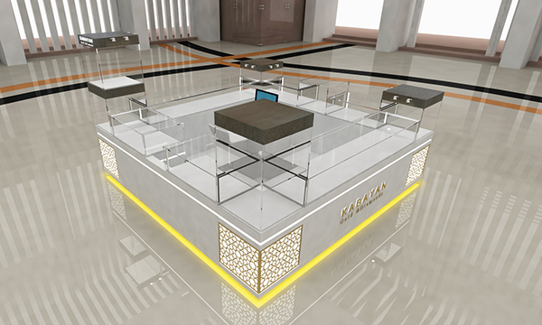 KABAYAN Gold & Diamoads Modern Mall Kiosk Design