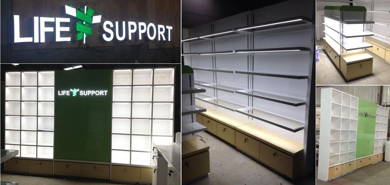 Life-Support-Pharmacy-Shop-display-cabinets-production-photos