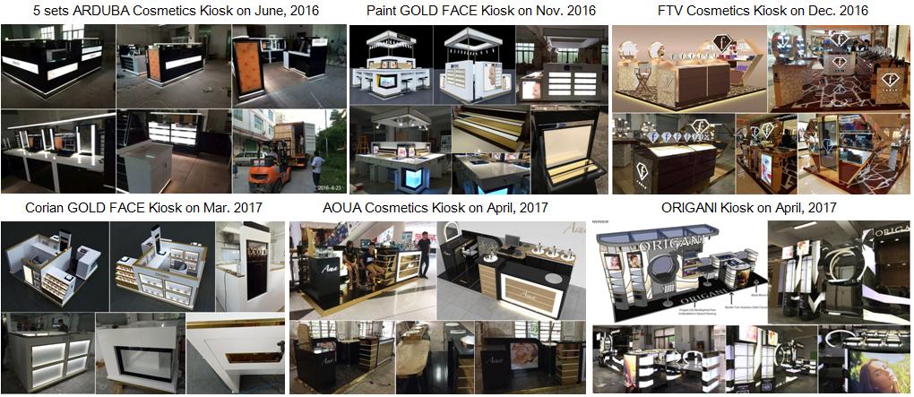 M2 Display beauty mall kiosk work
