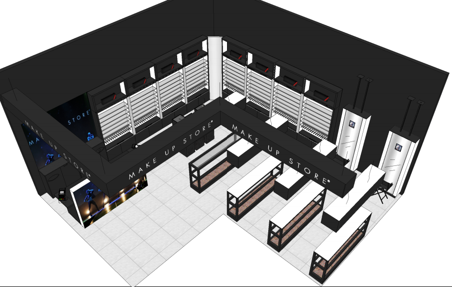 make up store design