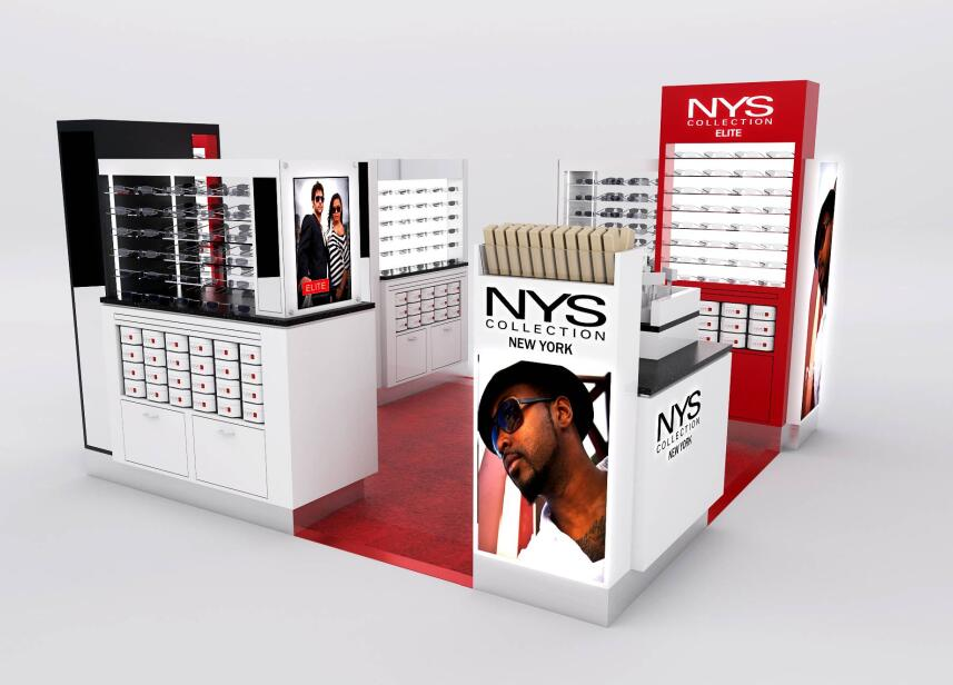 NYS Mall kiosk made by fire rated plywood with Formica veneer