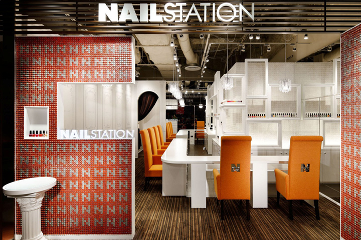 Nail Station Store Design Osaka Japan M2display Com