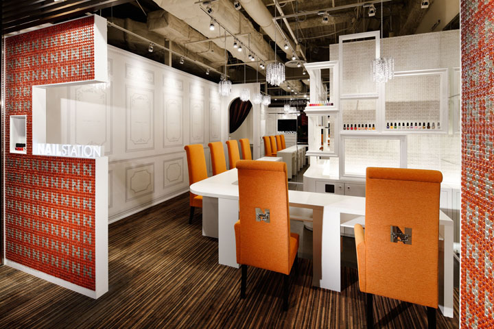 Nail Station Store Design Osaka Japan M2display