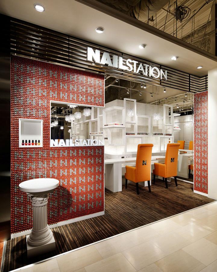 Nail Station Store Design, Osaka, Japan