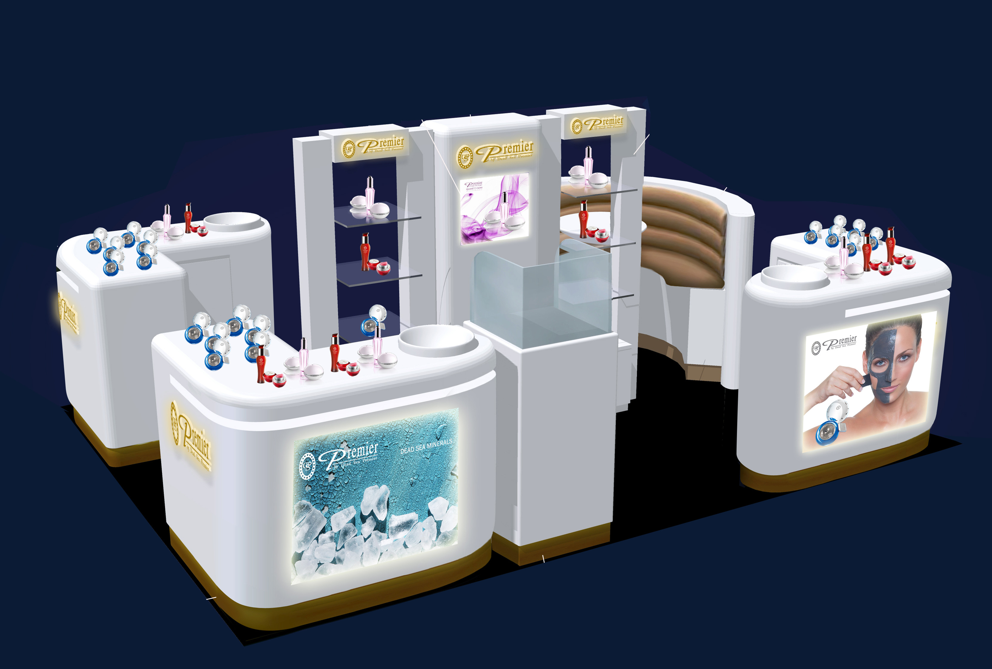 Premier Dead Sea Skin Care Mall kiosk
