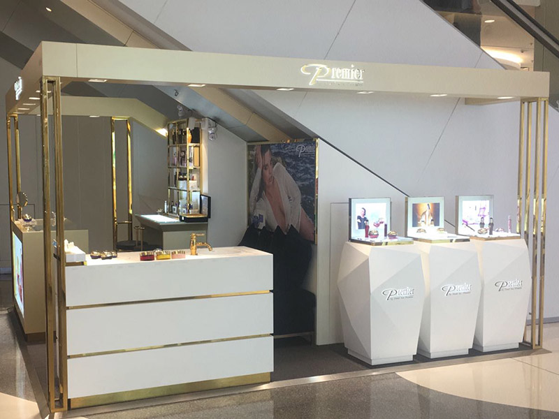 Gold Premier dead sea product display mall kiosk