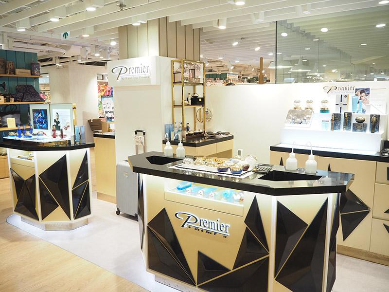 Black and Gold Premier dead sea pop up store design