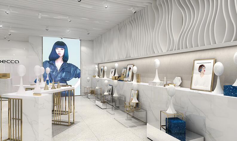 Rebecca Fashion Wig & Extension Retail Shop Design Idea