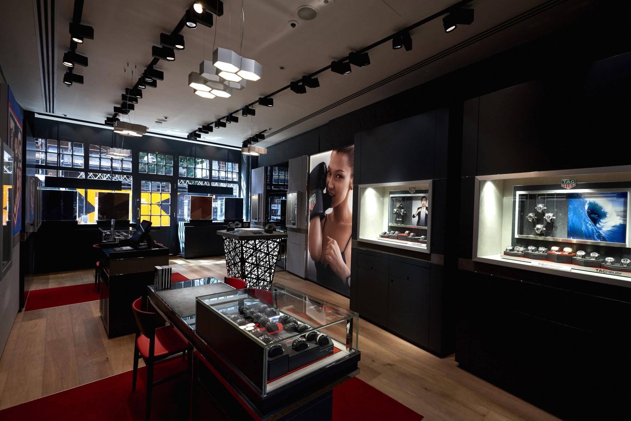 new theme TAG Heuer watch store in Spitalfields