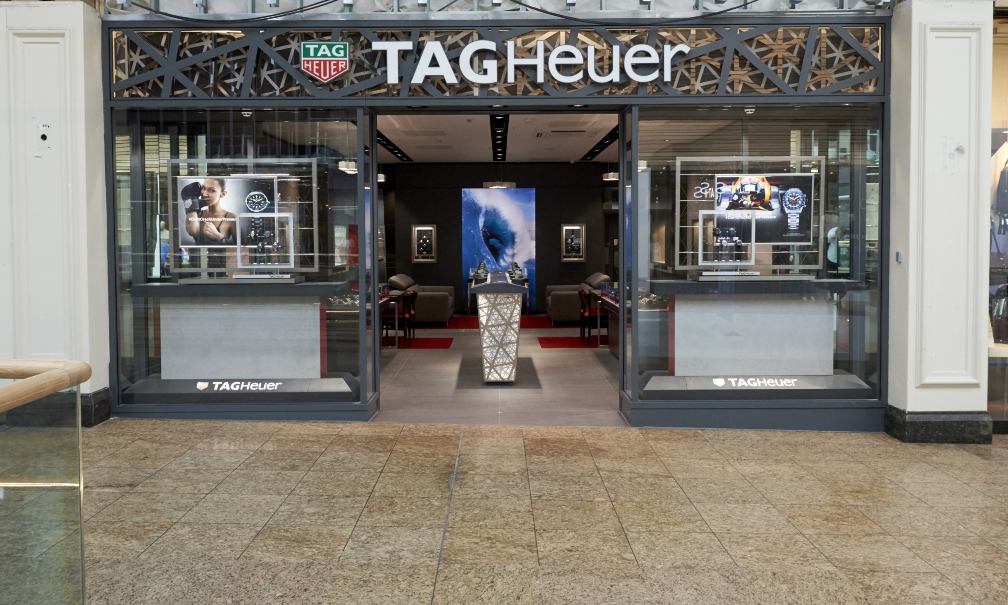 TAG Heuer Watch Flagship Store Design, Meadowhall UK.