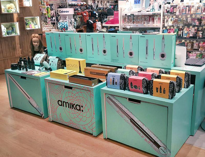 amika hair beauty display cube with storage